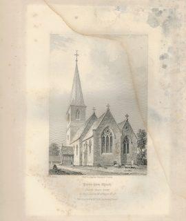 Antique Engraving Print, Peper Hara Church, 1845