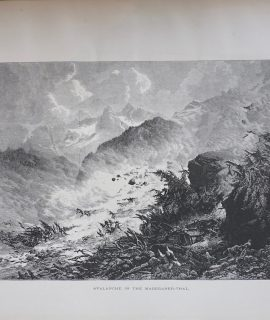 Antique Print, Avalanche in the Maderaner-Thal, 1870