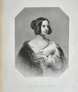Antique Engraving Print, Lady Anne Jane Howard, 1873