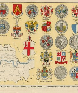 Vintage Print, The Arms and Common Seals of the Metropolitan Boroughs of London, 1903