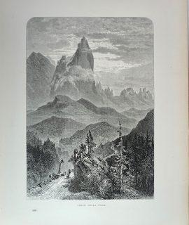 Antique Print, Cimon della Pala, 1870