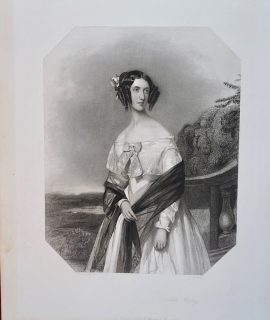 Rare Antique Engraving Print, Countess Morley 1815