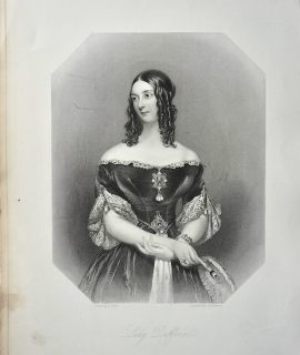 Antique Engraving Print, Lady Dufferin, 1867