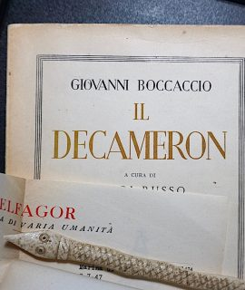 G. Boccaccio, Il Decamerone, (with autograph letter signed by L. Russo), 1944