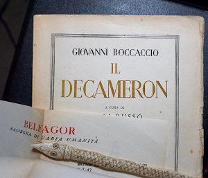 G. Boccaccio, Il Decamerone, (with autograph letter signed by L. Russo), 1944