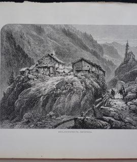 Antique Print, Heiligenkreutz Oetzthal, 1870