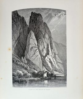 Antique Print, Cliffs in the Defile of Kazan, 1870