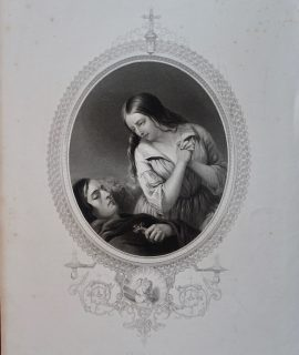 Antique Engraving Print, Kathleen, 1846