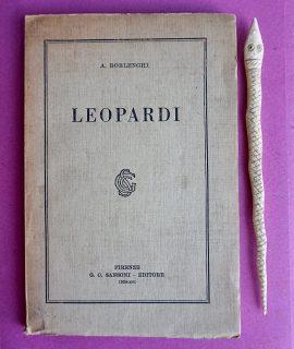 A. Borlenghi, Leopardi, Firenze, Sansoni, 1938