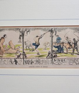 Rare Antique Engraving Print, Athletic Sports at Oxford, 1870