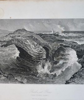 Antique Engraving Print, Rocks at Ross, 1875