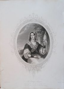 Rare Antique Engraving Print, The Cottage Maid, 1846