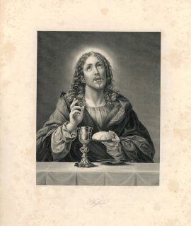 Rare Antique Engraving Print, Jesus, 1845