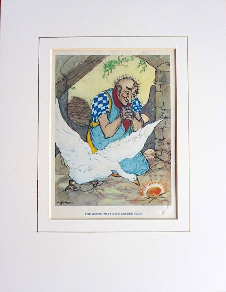 Vintage Print, The Goose that Laid Golden Eggs, 1905 ca.