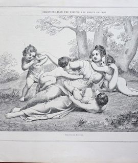 Antique Print, The Young Mother, 1873