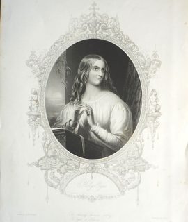 Rare Antique Engraving Print, Holy Eyes, 1867