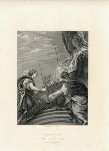 Antique Engraving Print, Paul Veronese, 1873