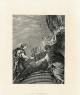 Antique Engraving Print, Paul Veronese, 1873