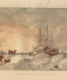 Antique Print, Returning Sun in the Artic Regions, 1880 ca.