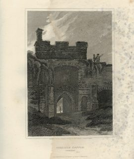 Antique Engraving Print, Carlisle Castle, Cumberland, 1813