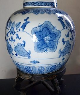 Vintage Chinese Ginger Jar, 20th.