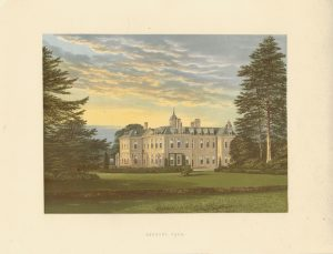 Antique Print, Hanbury Hall, 1893
