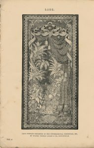 Antique Engraving Print, Lace, 1862