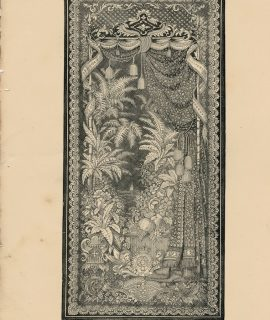 Antique Engraving Print, Lace, 1862