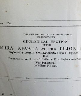 Geological Section of the Sierra Nevada at the Tejon Pass, 1853