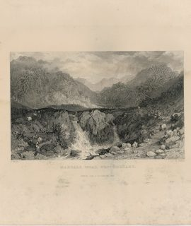 Antique Engraving Print, Mardale Head, Westmorland, 1834