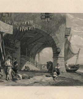 Antique Engraving Print, Mazzorbo, 1836