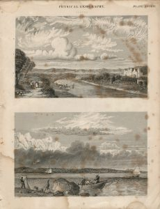 Antique Engraving Print, Physical Geography, Clouds, 1840 ca.