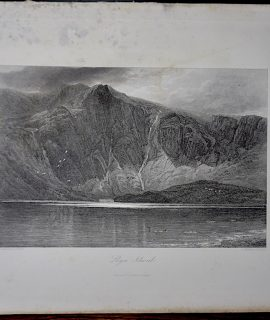 Antique Engraving Print, Slyn Idwal, 1873