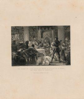 Antique Engraving Print, The Bishop of Liege, 1837