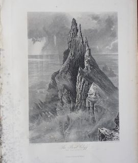 Antique Engraving Print, The Bent Cliff, 1881