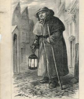 Antique Print, London Watchman, Charlie, 1875