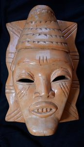 Vintage Chinese Wooden Mask, 1950 ca.
