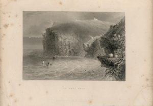 Antique Engraving Print, St. Bees Head, 1841
