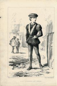 Antique Print, A City Apprentice, 1875