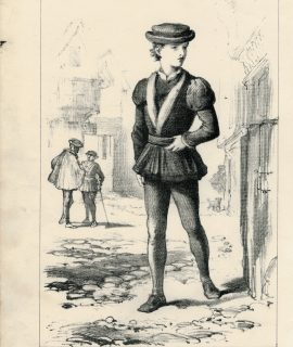 Antique Print, A City Apprentice, 1875