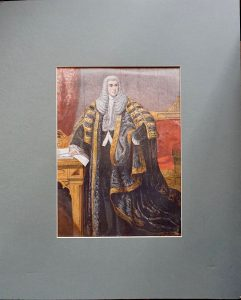Antique Print, The Speaker of the House of Commons, 1857