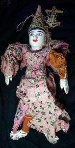 Rare Vintage Wooden Burmese Marionette, 1920-30
