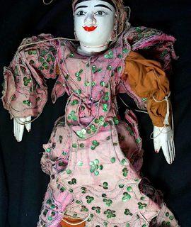 Rare Vintage Wooden Burmese Marionette