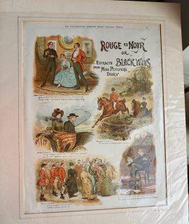 Antique Print, Rouge et Noir or Black Wins, 1859 ca.