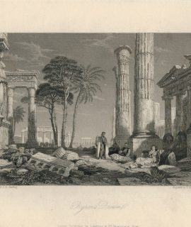 Antique Engraving Print, Byron's Dream, 1836