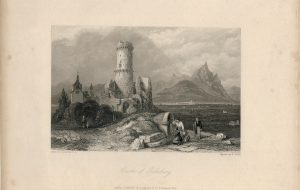 Antique Engraving Print, Castle of Godesburg, 1836