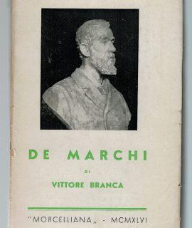 De Marchi di Vittore Branca, Morcelliana, 1946