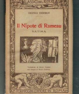 Dionigi Diderot, Il nipote di Rameau, satira, Formiggini, 1929