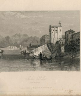 Rare Antique Engraving Print, Isola Bella, 1836