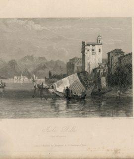 Rare Antique Engraving Print, Isola Bella, 1836